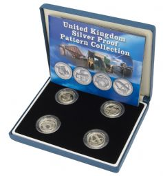 Silver Proof One Pounds Bridges Patterns 4 Coin Set for sale